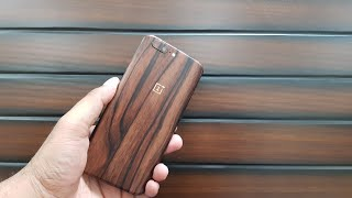 Skinnova Ebony Wood Skins - Its Beautiful & Looks Natural (Demo on OnePlus 5)