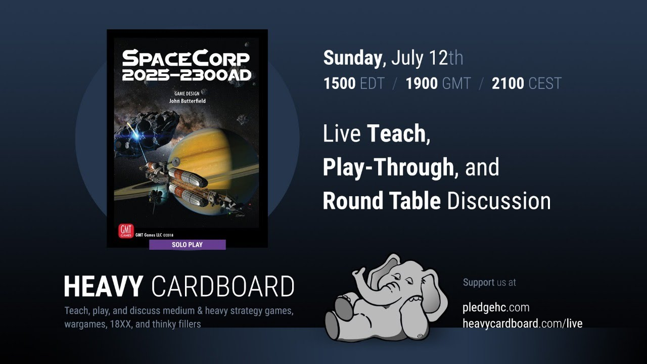 SpaceCorp Solo Teaching, Play-through, & Round table by Heavy Cardboard