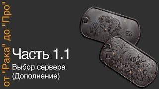 """От """"Рака"""" до """"Про"""". Часть 1.1.Выбор сервера (дополнение)"""