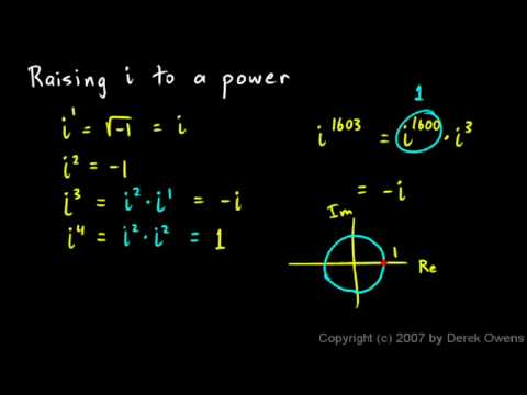 Algebra 2  4.4e - Complex Numbers, Part 5 - The Imaginary Unit
