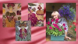 Древнее искусство живописи ошибана. Картины из сухоцветов, созданные Грушиной Татьяной.