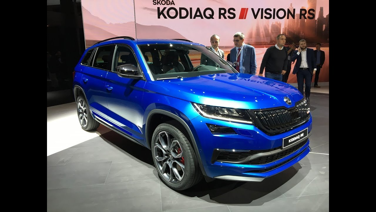 skoda kodiaq rs l 39 anachronique en direct du mondial de l 39 auto 2018 youtube. Black Bedroom Furniture Sets. Home Design Ideas