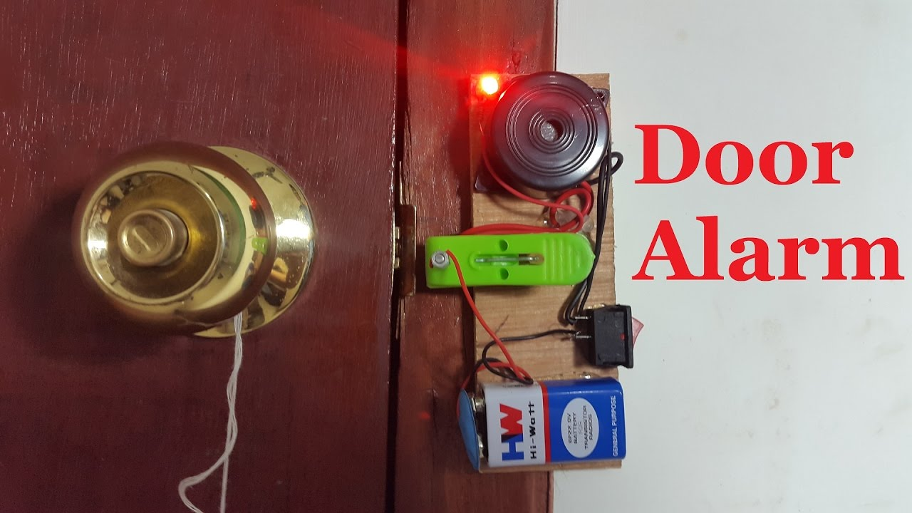 How To Make A Door Alarm Diy Home Security Alarm Youtube
