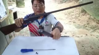Takuya tire uma dúvida como desmontar espingarda mono tiro CBC? E por que tem ums menor que outro?