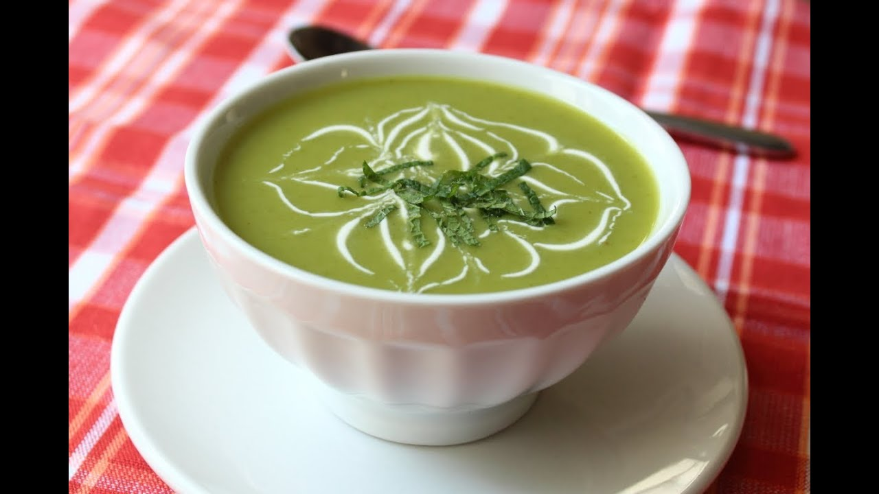 Chilled sugar snap pea soup cold spring pea soup youtube for Soup for a cold