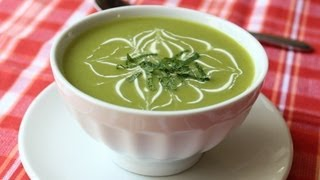 Chilled Sugar Snap Pea Soup - Cold Spring Pea Soup
