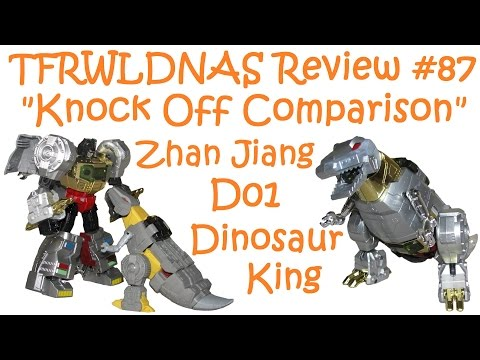 "Transformers ""KO Comparison"" Review #87 Zhan Jiang D01 Dinosaur King"