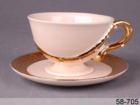 Чашка с блюдцем золотая змея 58-705 - обзор Posudaclub.kiev.ua