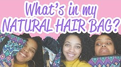 WHAT'S IN MY NATURAL HAIR BAG? | BLACK HISTORY MONTH BEGINS!