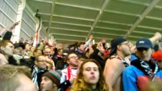 Ambiance Lens Vafc avec les supporters de Valenciennes
