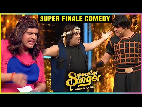 Krushna Abhishek & Kiku Sharda HILARIOUS Comedy At Superstar Singer Finale