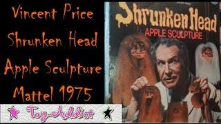Vintage Toy Craft Kit ~ Vincent Price Shrunken Head Apple Sculptures ~ 1975 Mattel ~ Toy-Addict