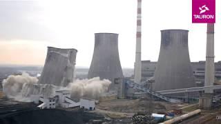 Wysadzanie drugiej chłodni kominowej - Elektrownia Łagisza