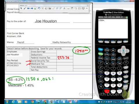 Calculating Net Pay With Deductions