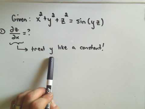 MultiVariable Calculus - Implicit Differentiation