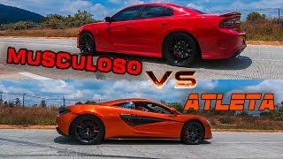 MUSCULOSO + Esteroides vs Super ATLETA l Dodge Hellcat vs McLaren 570 S