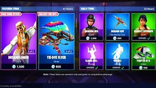 *NEW* DREAMFLOWER & FAR OUT MAN SKIN! LLAMA BELL DANCE IS BACK! FORTNITE ITEM SHOP 02.09!