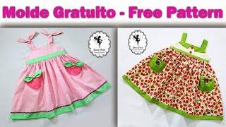 Costura – Vestido de Alças – 6 meses a 12 anos