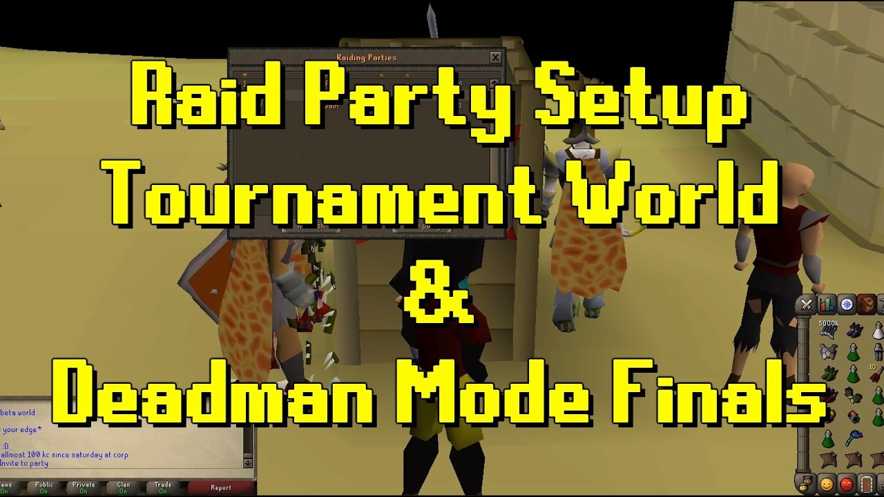 OSRS Updates | Load Test, Tournament World & QOL