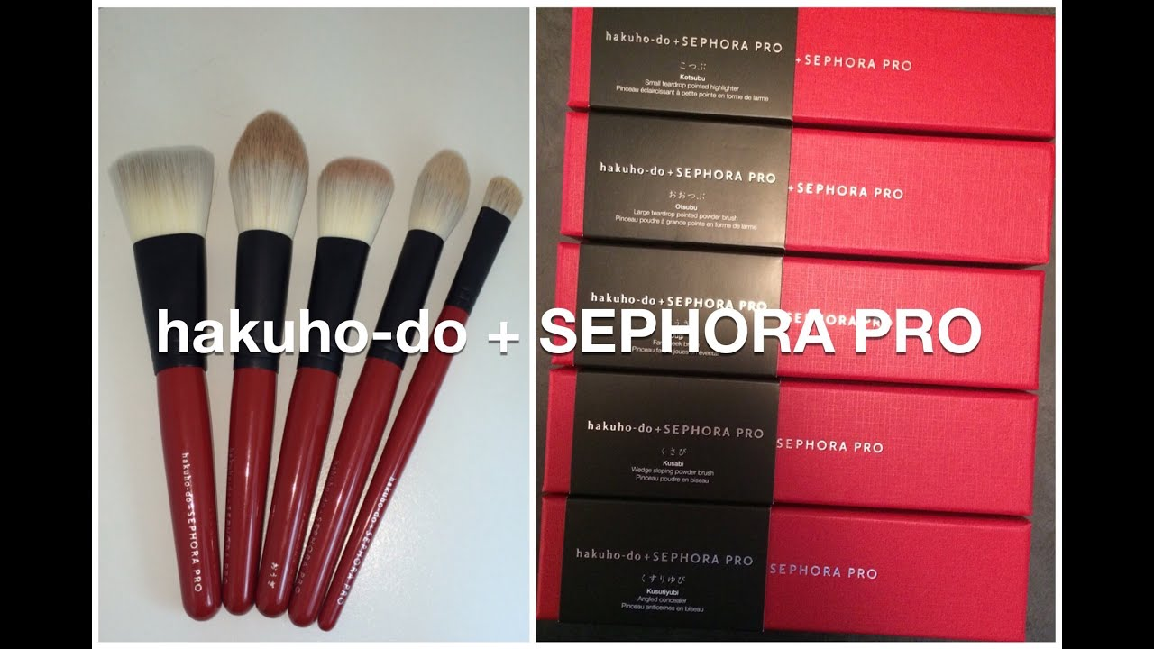 Japanese Makeup Brushes: HAKUHODO Flagship Store Haul - YouTube