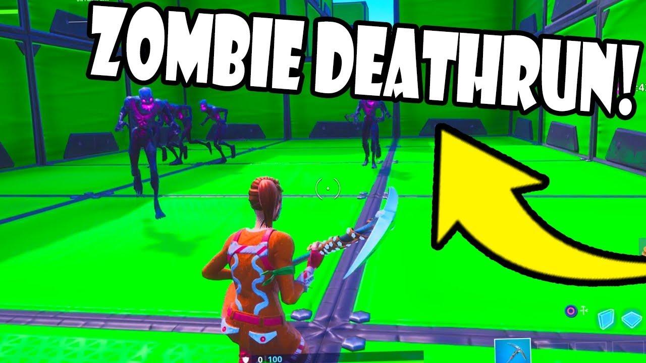 I Made A Zombie Deathrun In Fortnite Creative