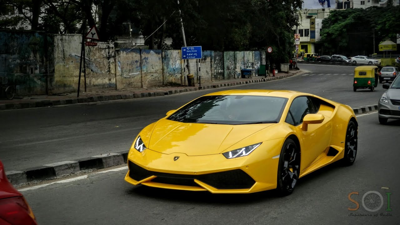 yellow lamborghini huracan in bangalore youtube. Black Bedroom Furniture Sets. Home Design Ideas