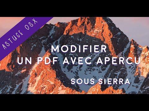 Modifier Un Pdf Avec Apercu Youtube