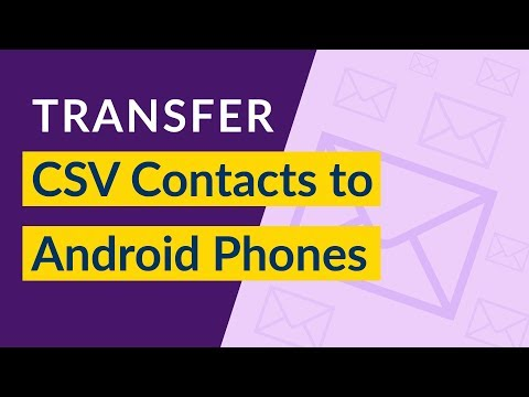 How To Import CSV Contacts To Android Phone I Open CSV File In Android Phones I CSV Import To Phones