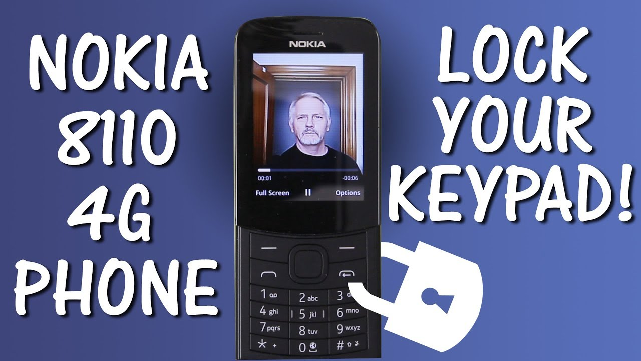 Nokia 8110 4G Phone, Setting a Passcode for Your Keypad