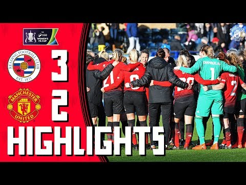 Highlights   Reading Women 3-2 Manchester United Women (AET)   FA Women's Cup