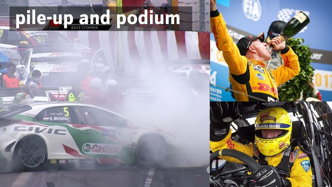 Tom Coronel Podium And Pile Up At Macau Wtcc Race With Tom Coronel 2017