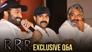 RRR Movie Full Q&A | RRR Movie Press Meet | Jr NTR | Ram Charan | SS Rajamouli | Telugu FilmNagar