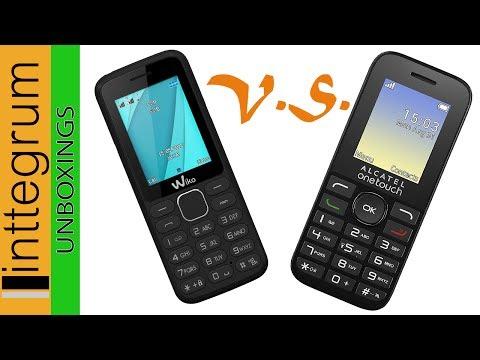 Unboxing/Review (Español) | ALCATEL OT-1016D vs WIKO LUBI 4 | Móviles