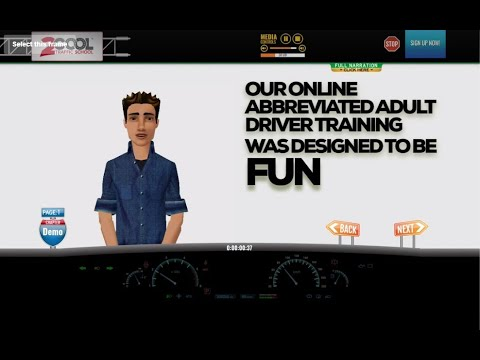 Ohio Abbreviated Adult Driver Training Course Demo From 2COOL Traffic School