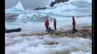 【衝撃映像】氷山崩壊 津波 tsunami