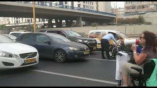 מחאת הנכים בתל אביב