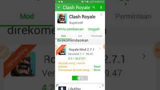 Gambar cover tutorial download clash royale mod apk