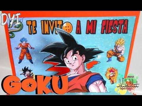 Invitación De Son Goku De Dragon Ball Diy Invitación