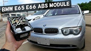 BMW E65 E66 ABS MODULE REMOVAL REPLACEMENT | TRACTION CONTROL MODULE