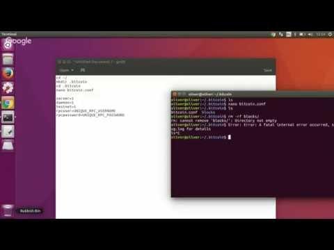Ubuntu -2 Setting Up .bitcoin Folder