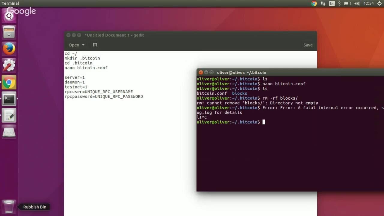 Ubuntu -2 Setting up  bitcoin folder