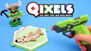 Qixels Fuse Blaster Water Gun Design Set 8 Bit Crafts Toy Review