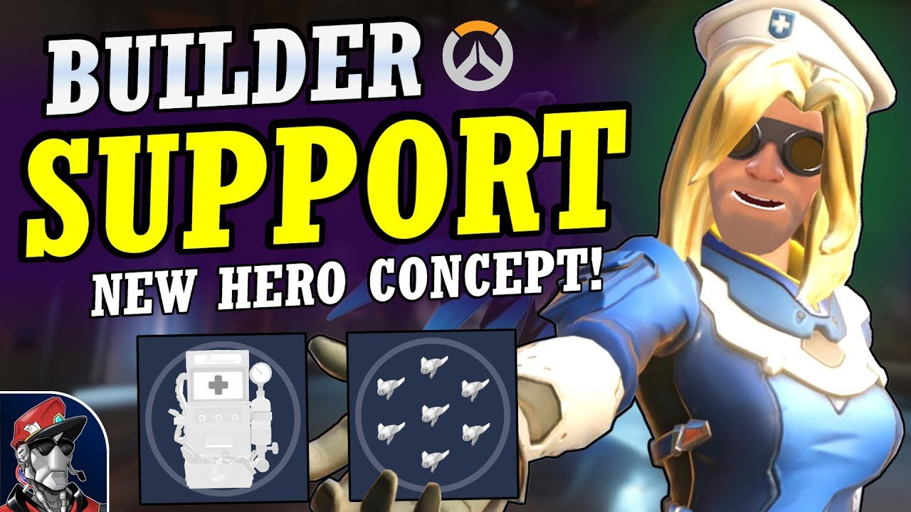 Download Overwatch - New SUPPORT BUILDER Hero Concept! | Complete Healer Kit & Abilities