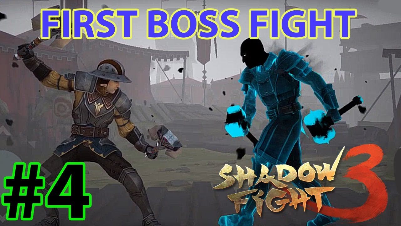 shadow fight 3 first boss fight ios android gameplay 4