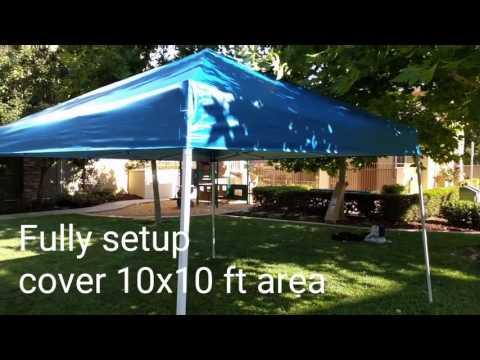 AmazonBasics Pop-Up Canopy Tent - 10 x 10 ft - YouTube