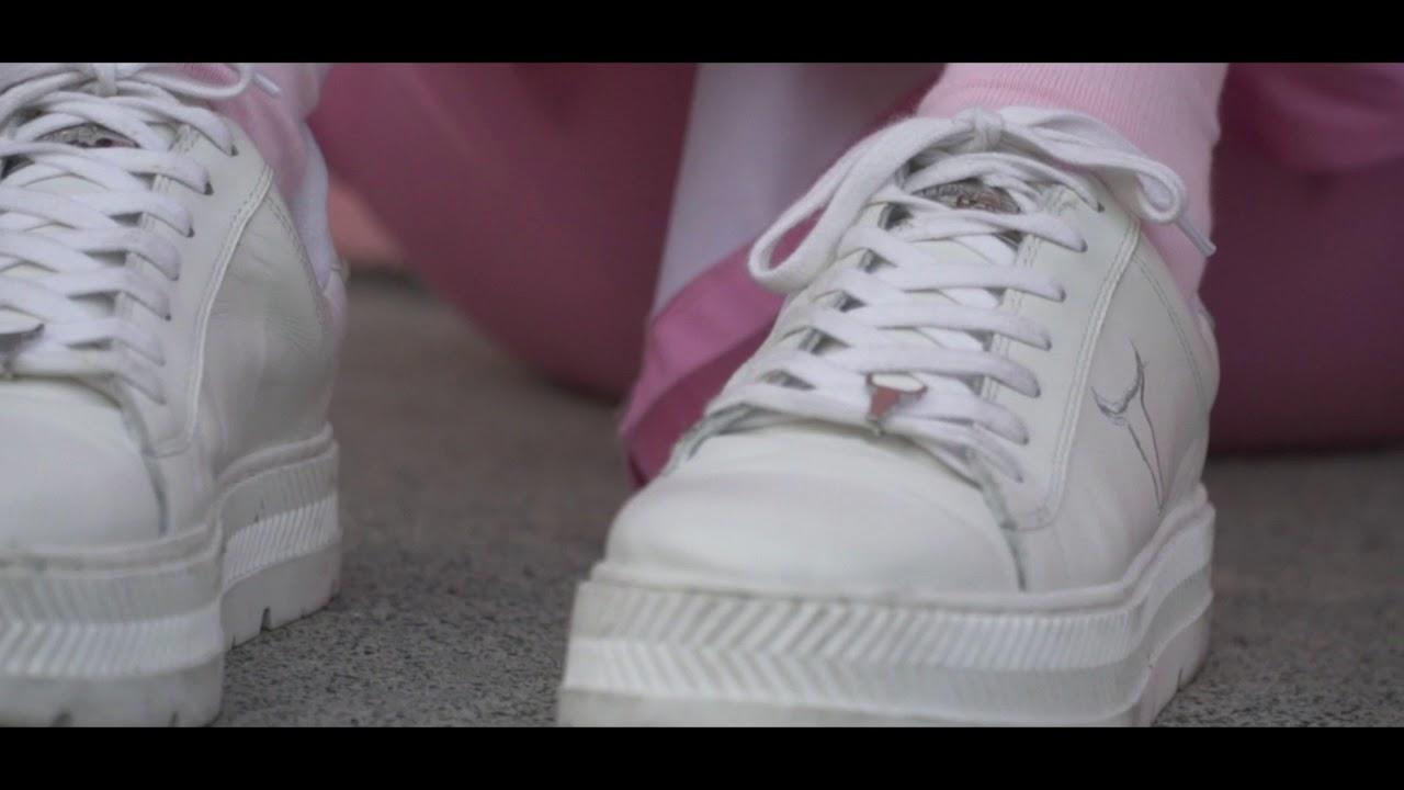 daa4b891e1b Rose G0ldd x Windosr Smith Kyla White Platform Sneakers - YouTube