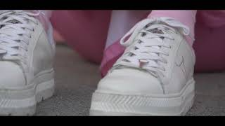 Rose G0ldd x Windosr Smith Kyla White Platform Sneakers