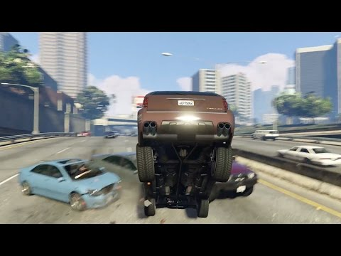 Best Car Crash Compilation #11 in Grand Theft Auto 5 (GTA V) thumbnail