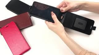 Обзор на вертикальную Флип чехол книжку с карманом для карт