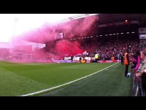Liverpool FANS in Fulham    180° Panorama